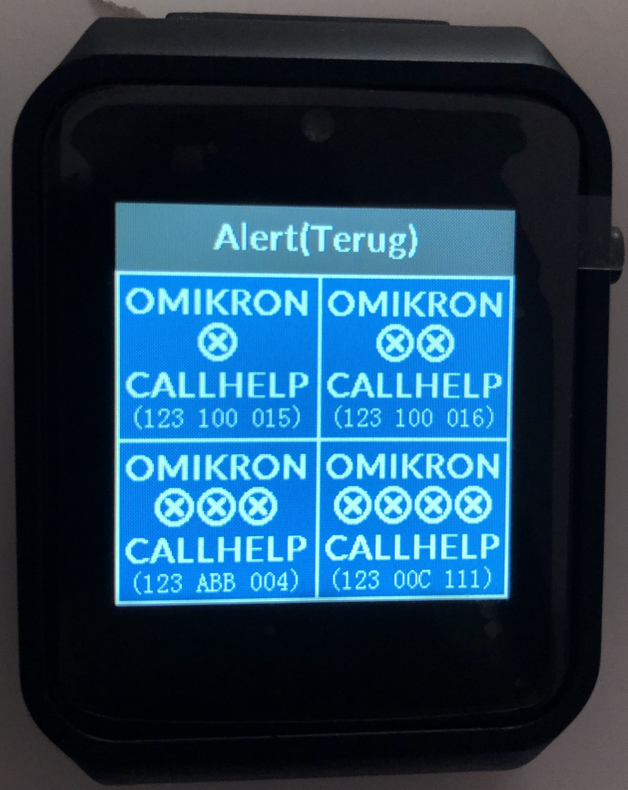 oproepontvanger alarmpager pager noodknop alarmontvanger