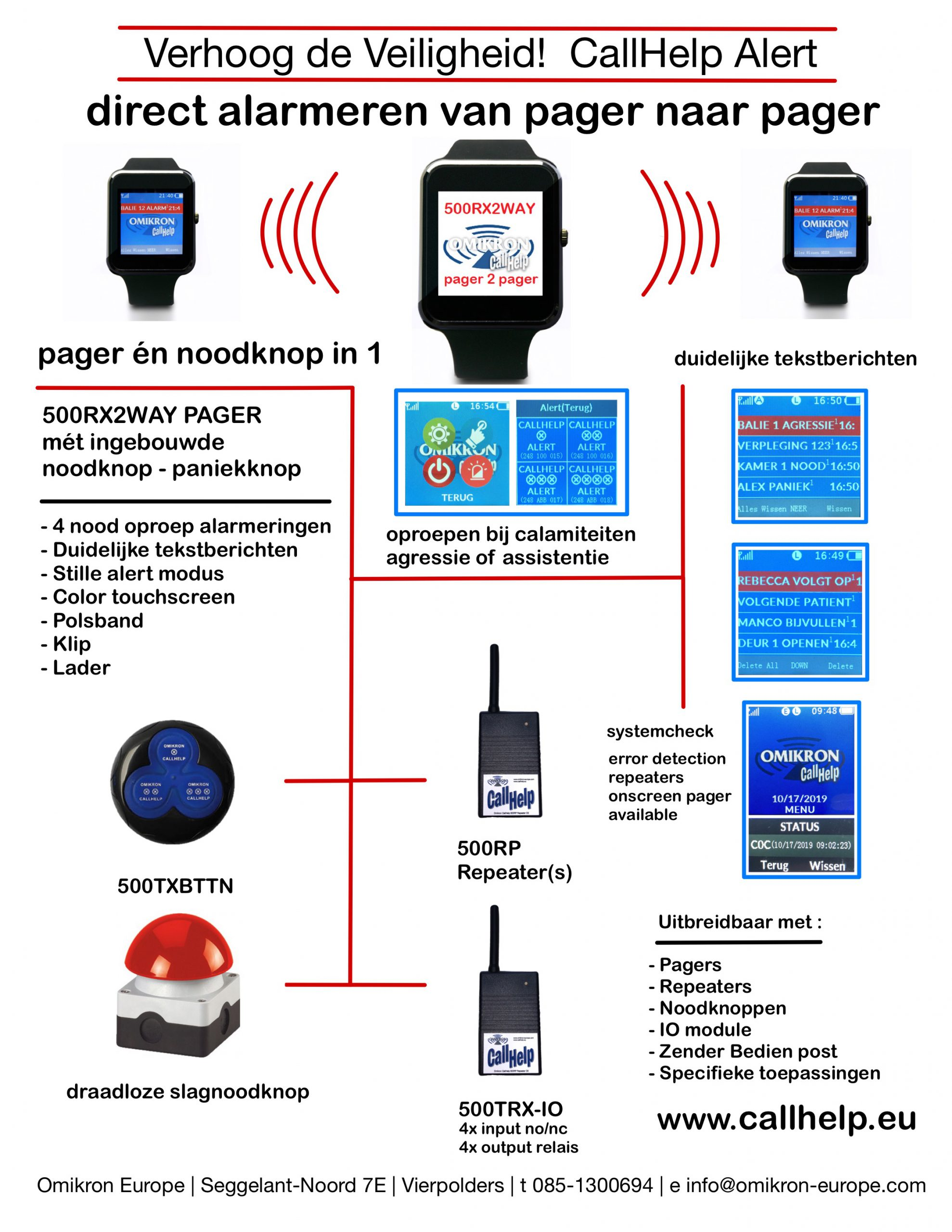 PAGER2PAGER 2WAYPAGING PAGER OPROEPSYSTEEM NOODKNOP